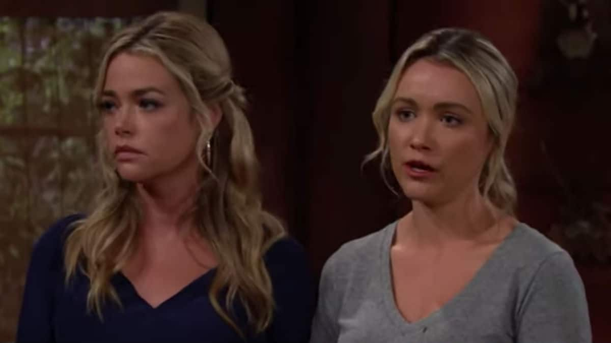 Denise Richards and Katrina Bowden as Shauna and Flo on The Bold and the Beautiful.