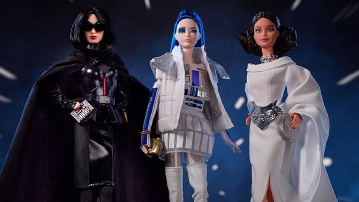 Star Wars Barbies. Photo cred: Mattel.
