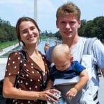 Olga, Steven and their baby Alexx