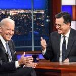 Vice President Joe Biden and Stephen Colbert