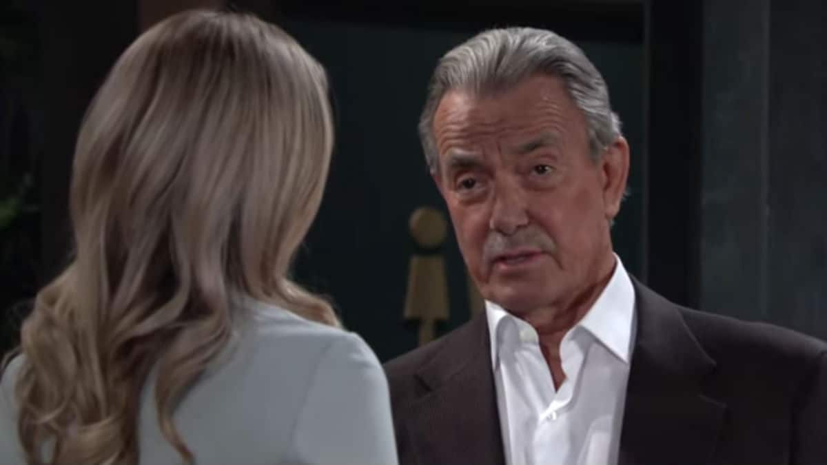 Victor talking to Abby on The Young and the Restless.