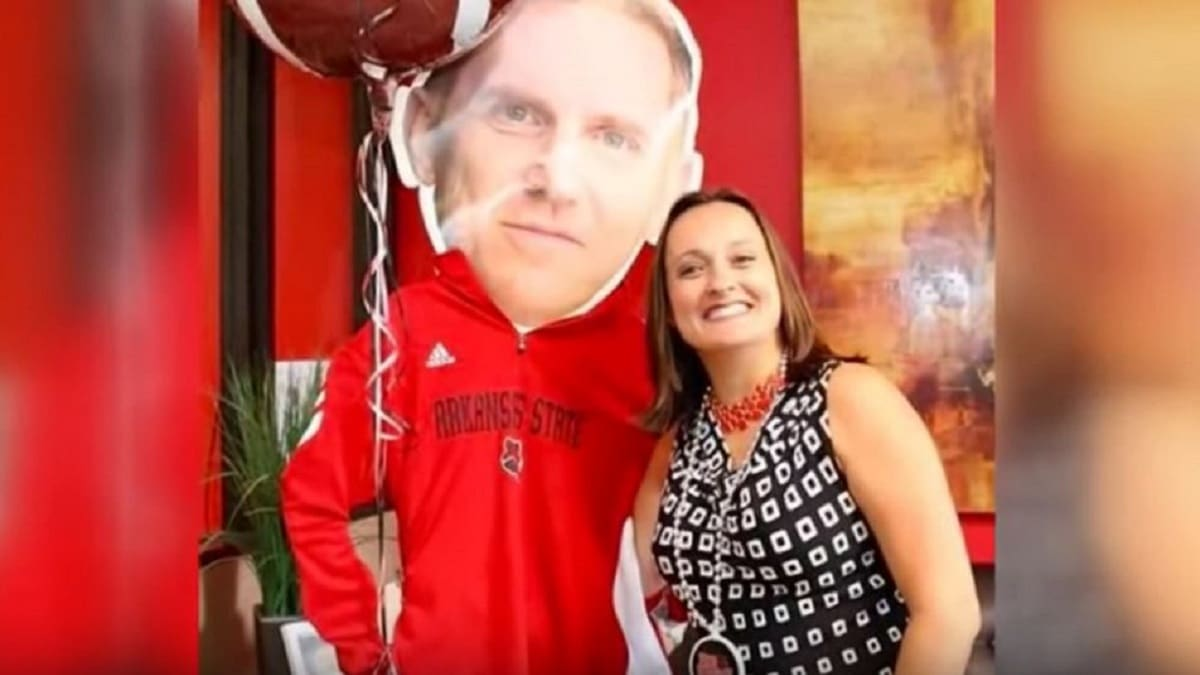 Wendy Anderson, wife of Arkansas State Red Wolves football coach Blake Anderson
