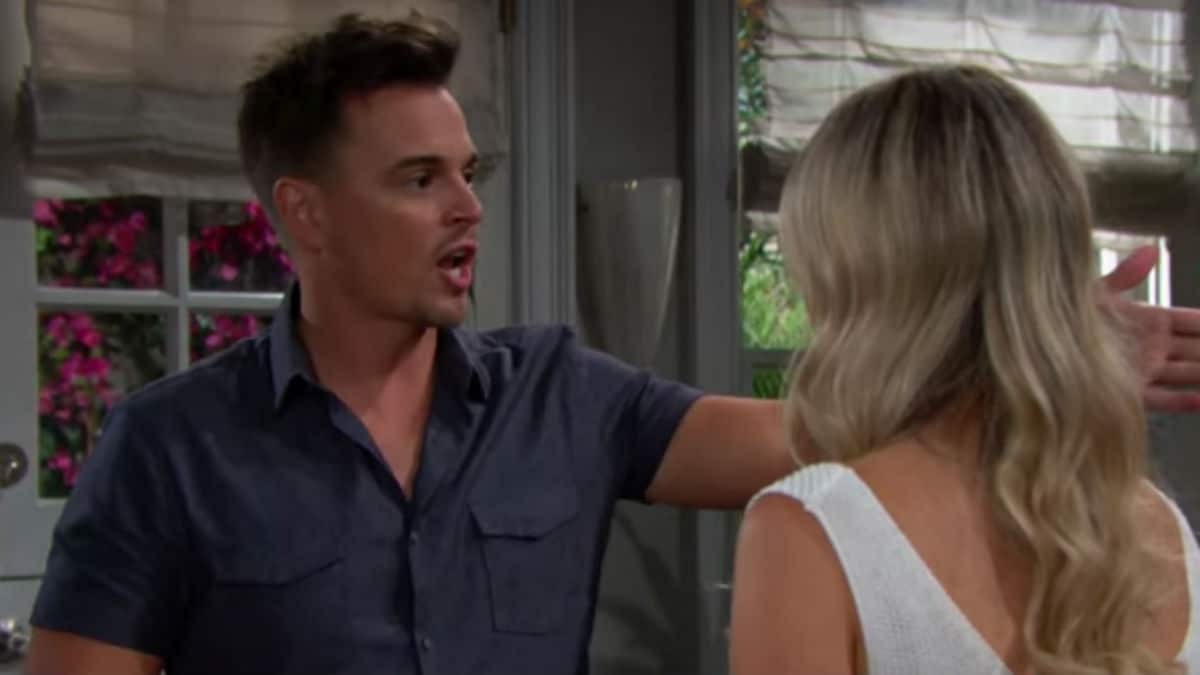 Darin Brooks and Katrina Bowden as Wyatt and Flo on The Bold and the Beautiful.