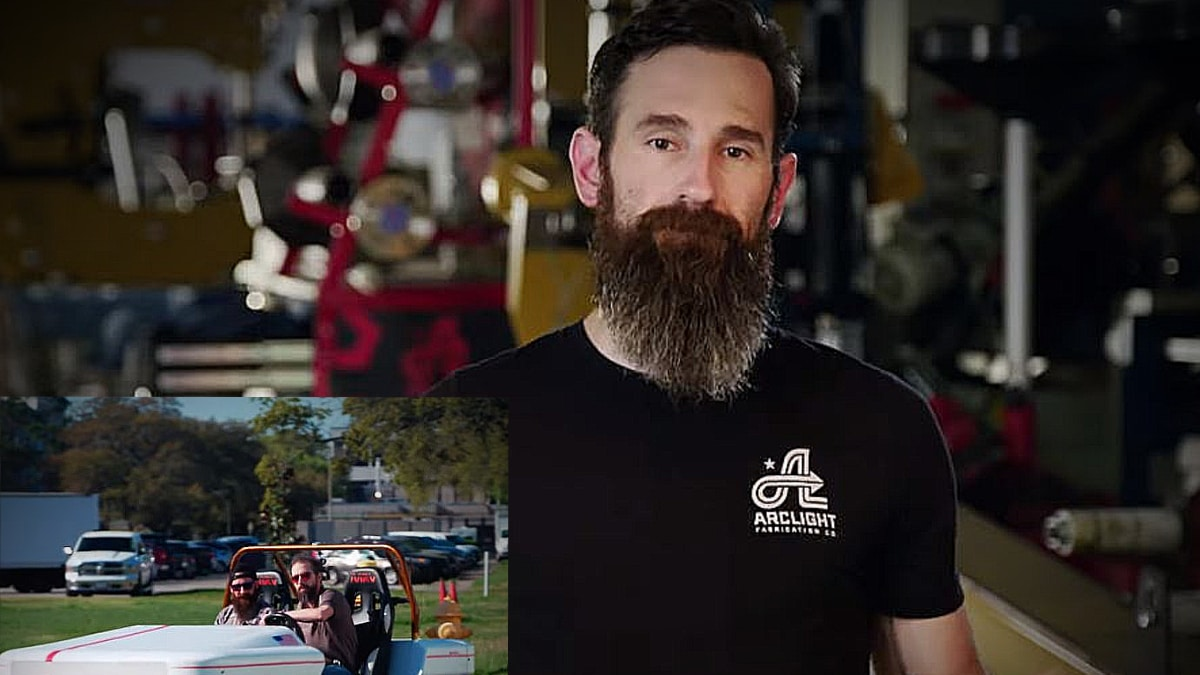 Aaron Kaufman has the coolest gig on TV where he gets to tinker and try the latest in rides. Pic credit: Discovery