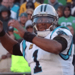 carolina panthers qb cam newton injured in preseason
