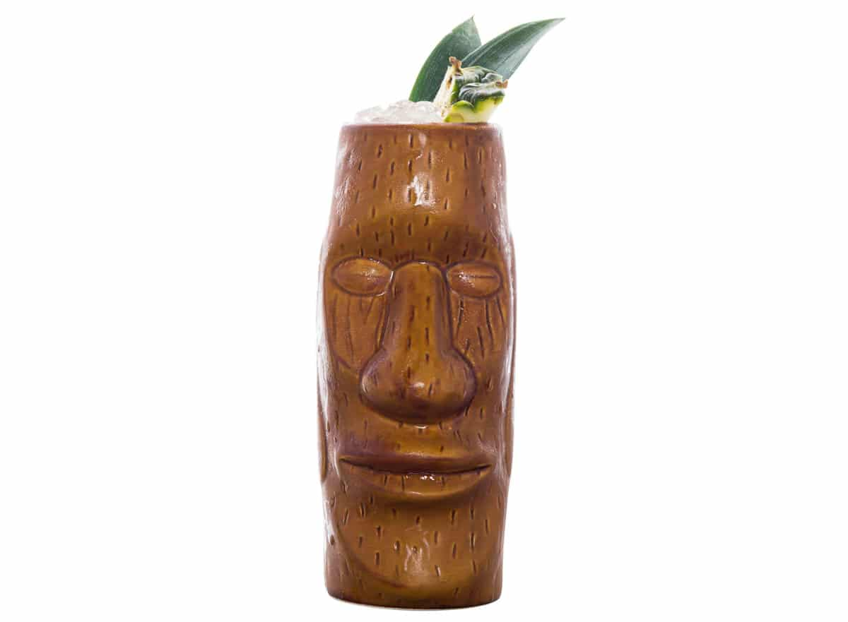 A manly vodka-based Tiki drink needs a manly Tiki! Pic credit: Nemiroff Vodka
