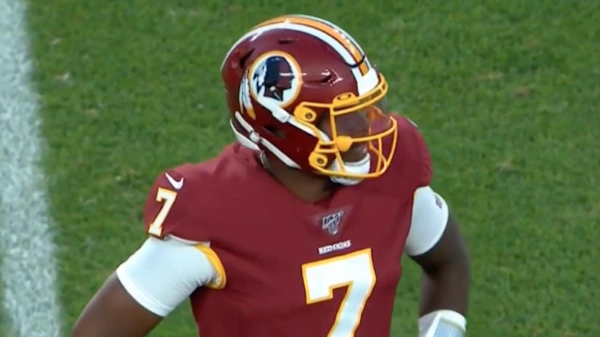 dwayne haskins made his redskins rookie debut