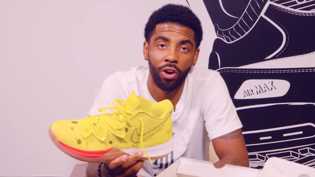 nba star kyrie irving shoes kyrie 5 spongebob shoe