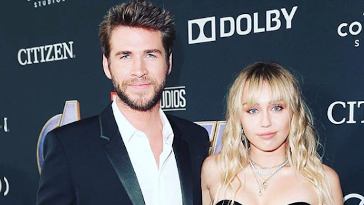 liam hemsworth with wife miley cyrus