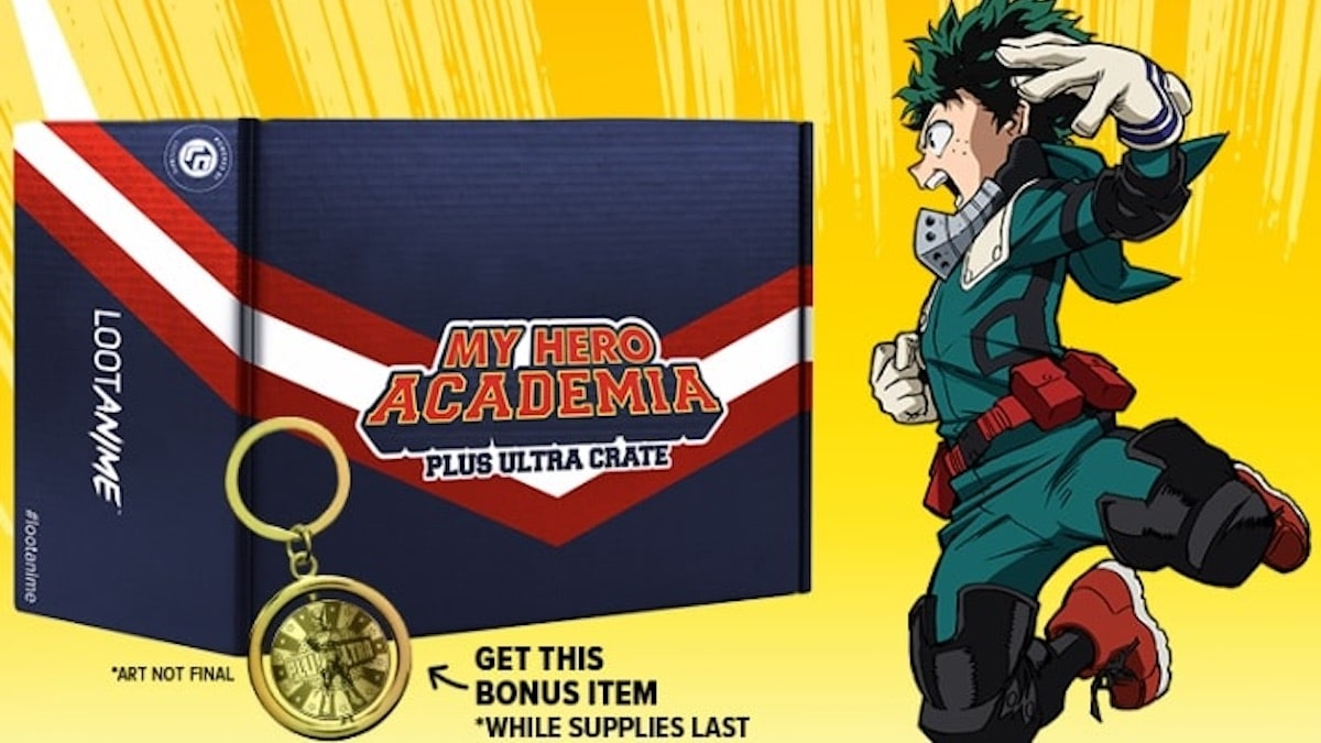 The new New limited edition My Hero Academia anime loot crate