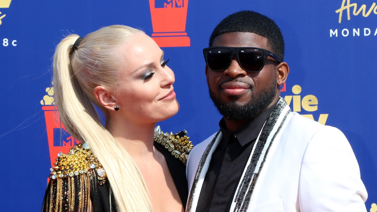 lindsey vonn and pk subban at 2019 mtv awards event