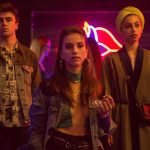 Itzan Escamilla, Mina El Hammani, and newcomer Claudia Salas in Elite Season 2.
