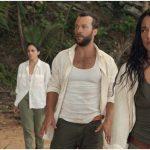 Natalie Martinez, Kyle Schmid, Michelle Veintimilla, and Kota Eberhardt in The I-Land.