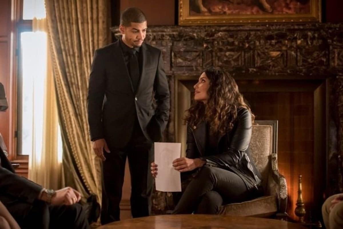 Rick Gonzalez as Rene Ramirez/Wild Dog and Juliana Harkavy as Dinah Drake/Black Canary on Arrow