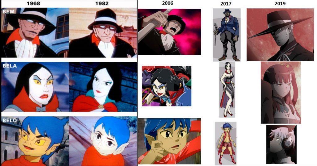 BEM Character Designs 2019 2006 1968