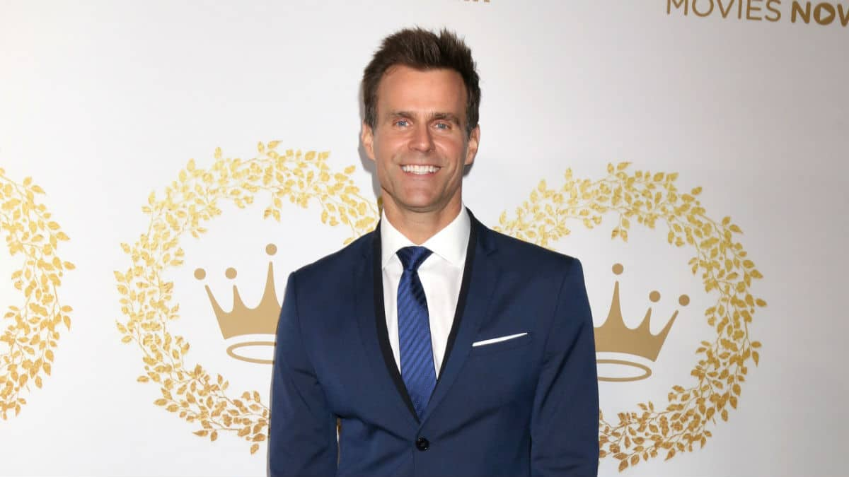 Cameron Mathison at a TCA event.