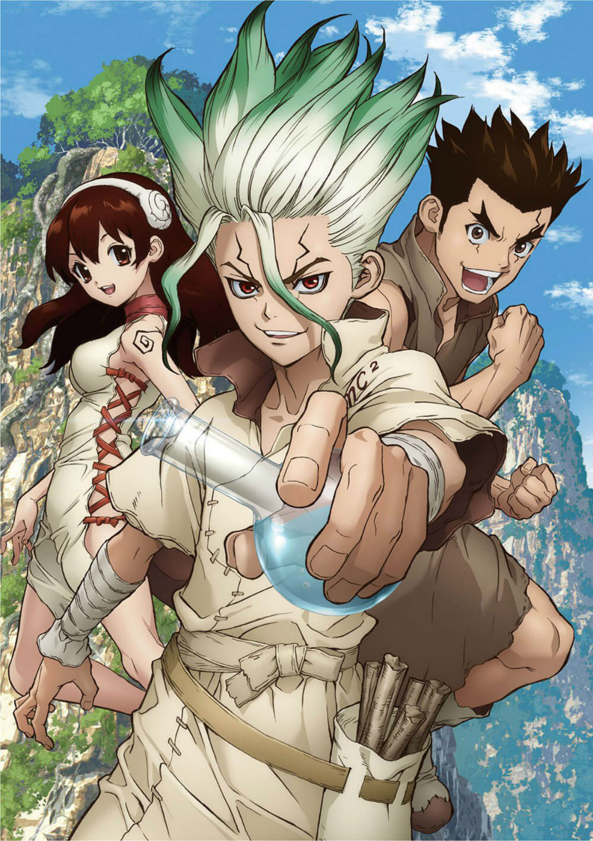 Dr. STONE Anime Blu-Ray DVD Disc Volume 1 Cover Art