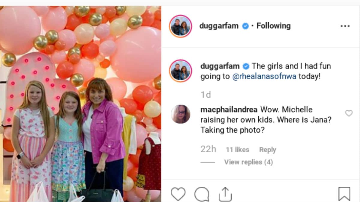 Comment from the Duggar family Instagram page.
