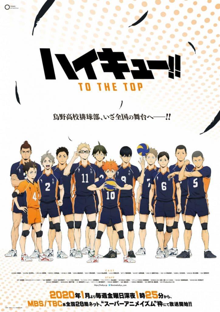 Haikyuu To The Top Anime Key Visual Haikyu S4