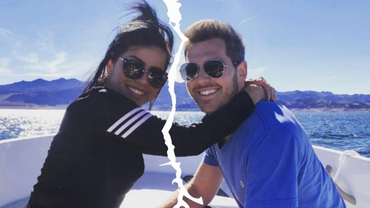 Larissa from 90 Day Fiance and her now-former boyfriend Eric Nichols