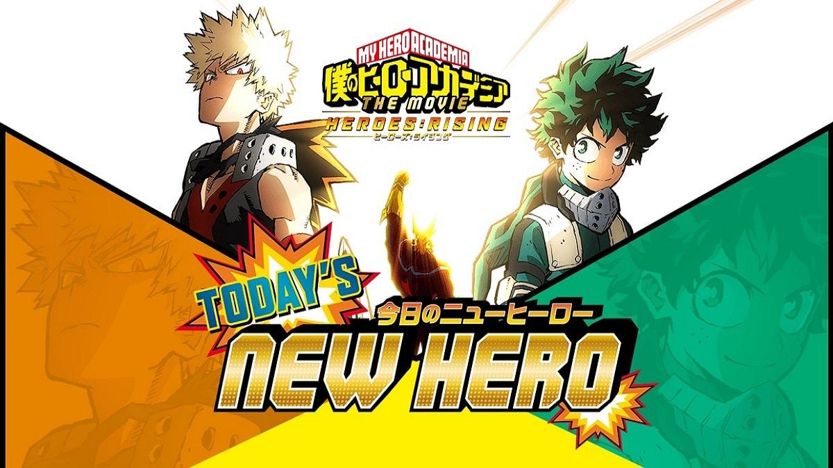 My Hero Academia: Today's New Hero promotional art.