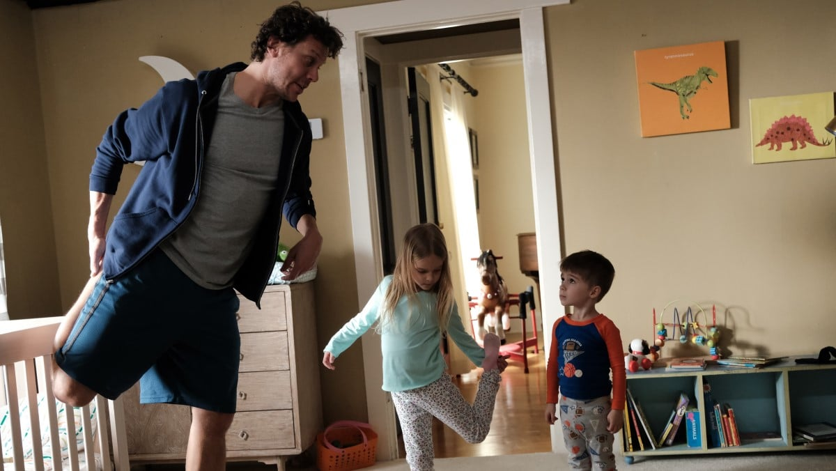 Mr. Mom and the kids