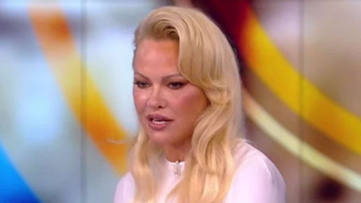 Pamela Anderson on The View.
