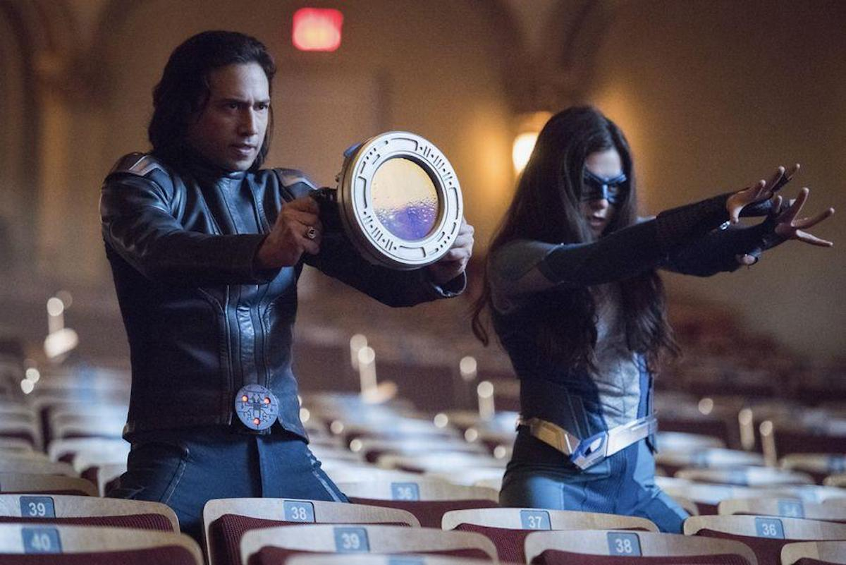 Jesse Rath as Brainiac-5 and Nicole Maines as Nia Nal/Dreamer on Supergirl.