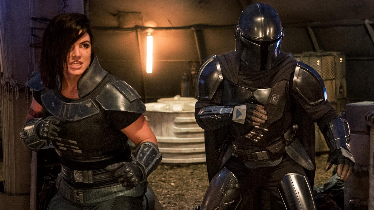 New image of Pedro Pascal and Gina Carano in The Mandalorian. Pic credit: Entertainment Weekly.