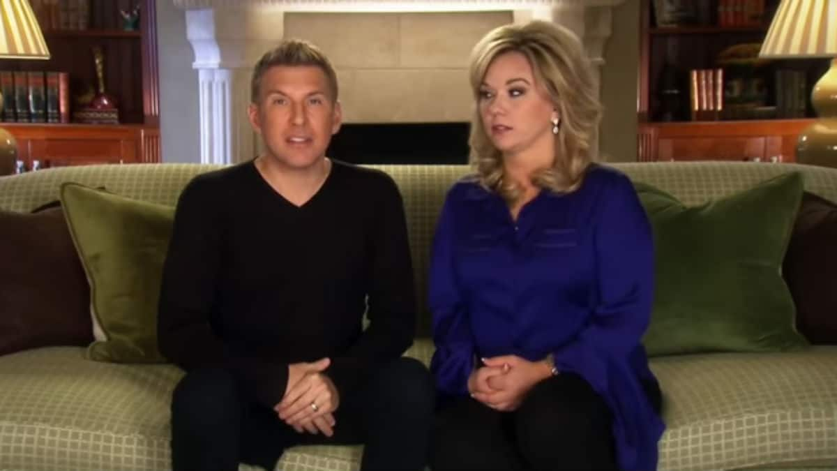 Todd and Julie Chrisley during a Chrisley Knows Best confessional.