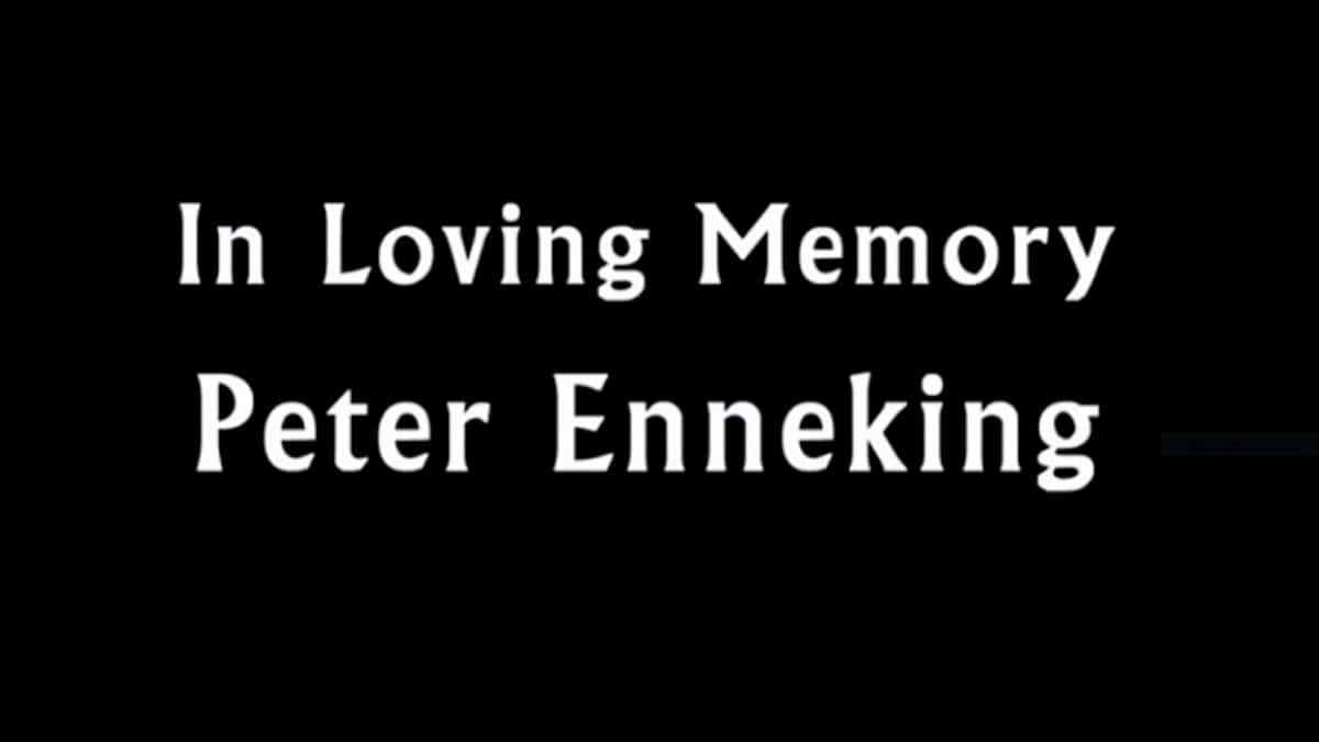 Tribute to HTGAWM crew member Peter Enneking