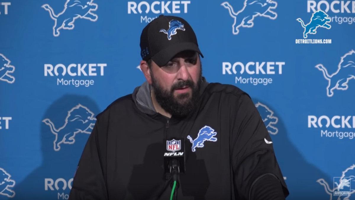 Matt Patricia, coach of the Detroit Lions
