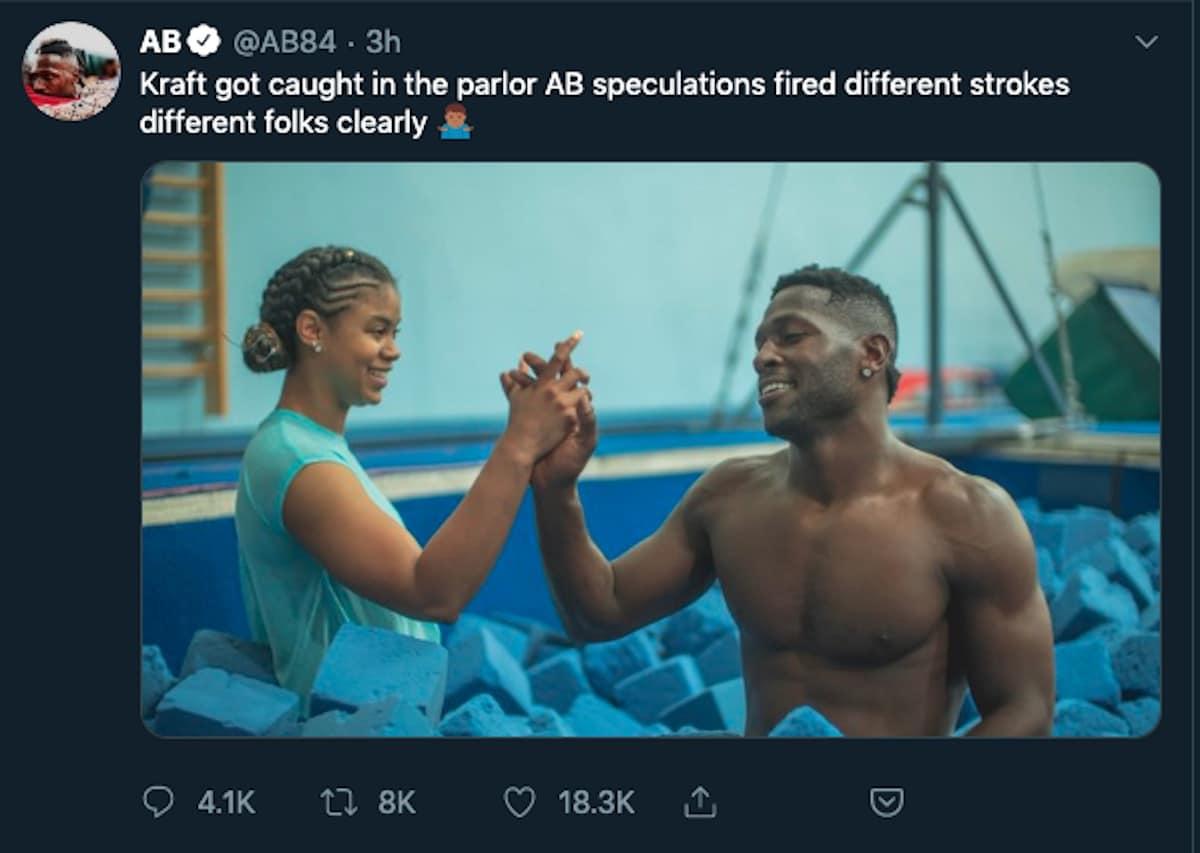 antonio brown kraft tweet on sept 22 2019