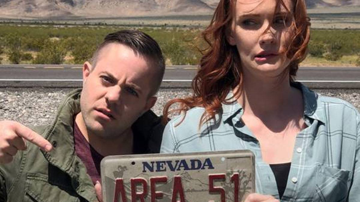 Mysteries Decoded Jennifer Marshall and Ryan Sprague investigate Area 51 and Storm Area 51 event and talk to the top experts. Pic credit: The CW