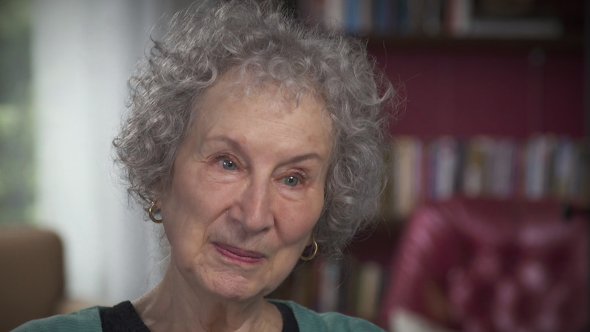 Margaret Atwood explains how life informs her art on CBS Sunday Morning. Pic credit: CBS
