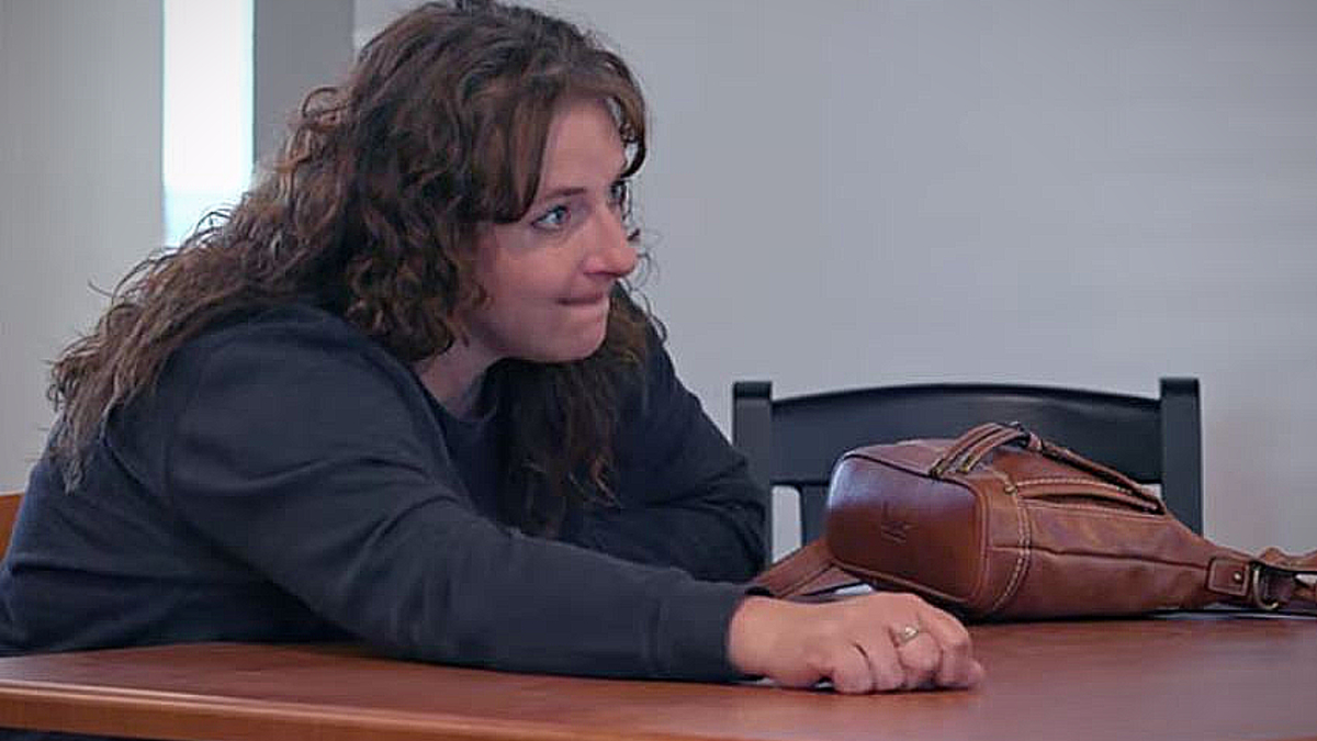 Christine's body language gives away she is over the job too on Undercover Billionaire. Pic credit: Discovery