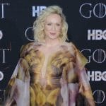 gwendoline christie of game of thrones on red carpet in nyc