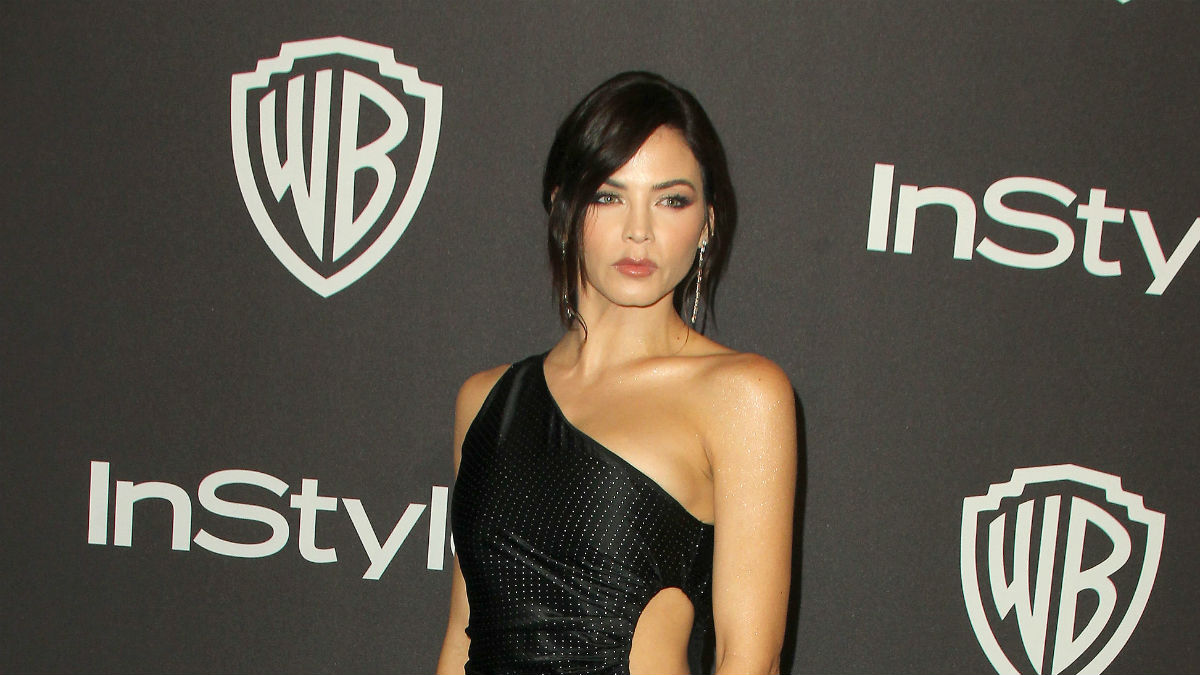 Jenna Dewan on the red carpet at an event.
