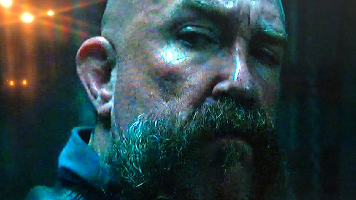 Beltran in a close up still of his Mayans M.C. biker guest role. Pic credit: Mike Beltran/Twitter