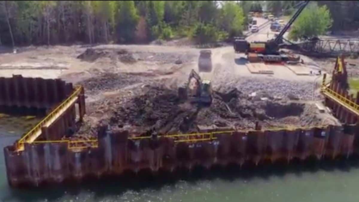 Excavation on Oak Island
