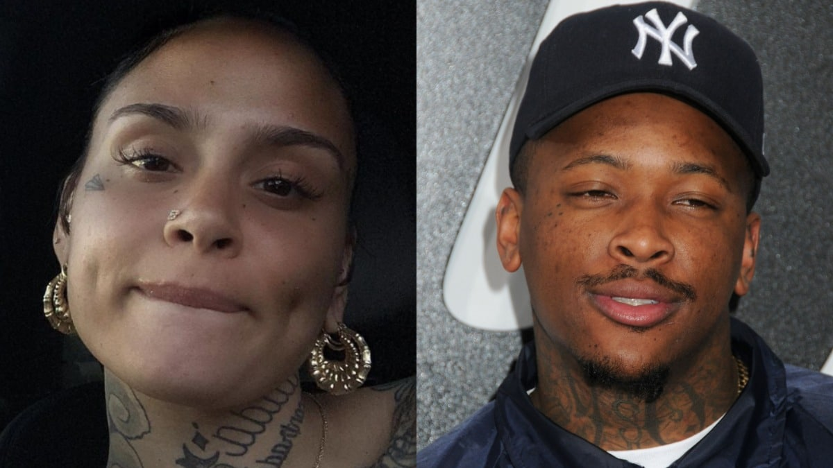 Kehlani in a selfie and YG on the red carpet