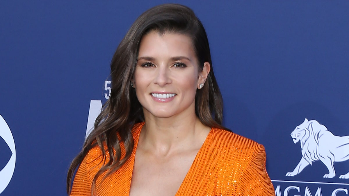 retired race car danica patrick at 2019 acm awards