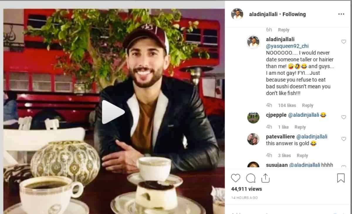Aladin opens up to questions on Instagram