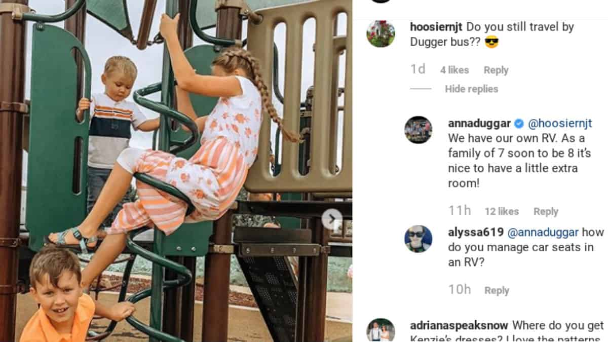 Comments from Anna Duggar's Instagram.