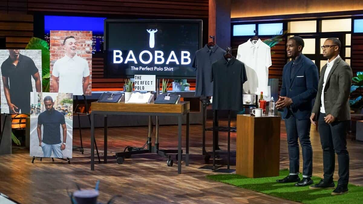Baobab polo shirts on Shark Tank