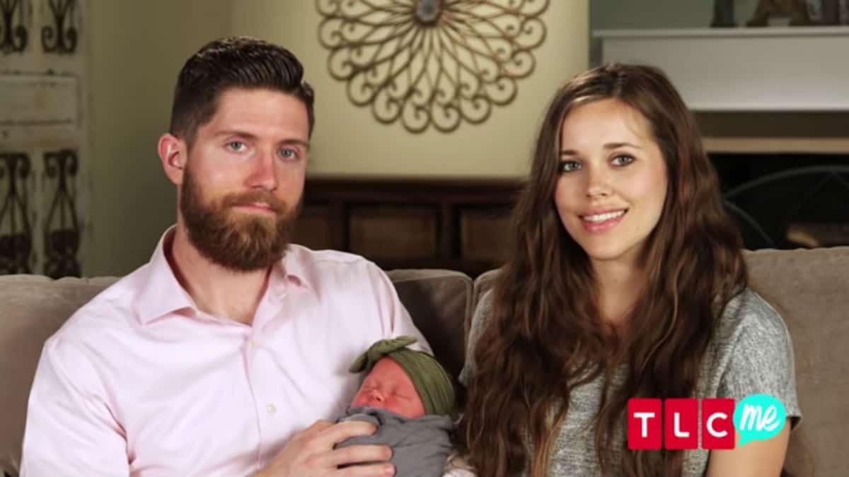 Ben Seewald and Jessa Duggar with baby Ivy.