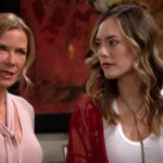 Katherine Kelly Lang and Annika Noelle as Brooke and Hope on The Bold and the Beautiful.