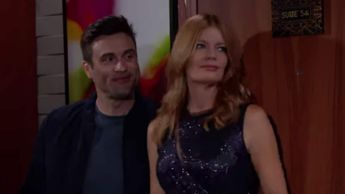 Daniel Goddard and Michelle Stafford as Cane and Phyllis on The Young and the Restless.
