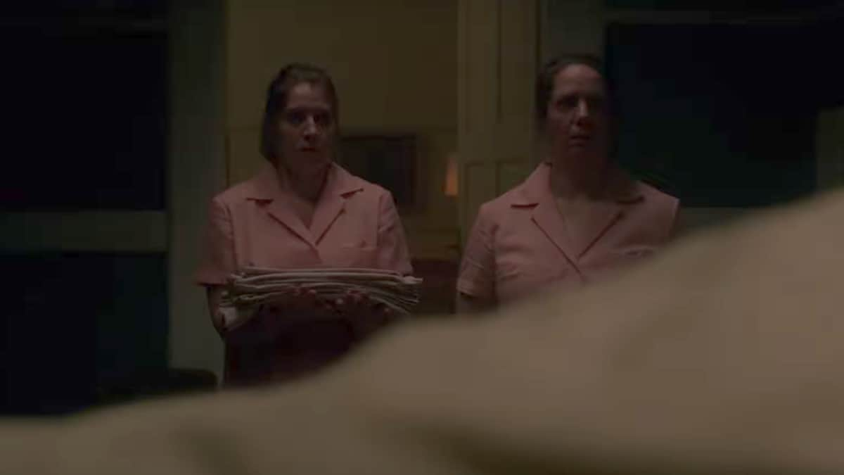 Scene with two nurses on Ward of Evil from Haunted