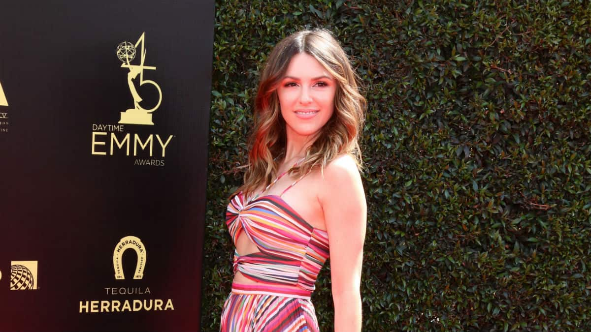 Elizabeth Hendrickson at the Emmys.